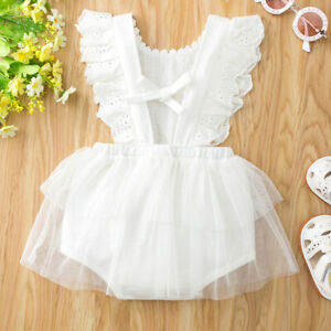 Newborn Baby Girl Clothes Ruffle Romper Tops Bodysuit Jumpsuit Dress Outfits Set