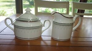 Portland-by-MINTON-Creamer-and-sugar-bowl-set-Fine-Bone-China-England-1974