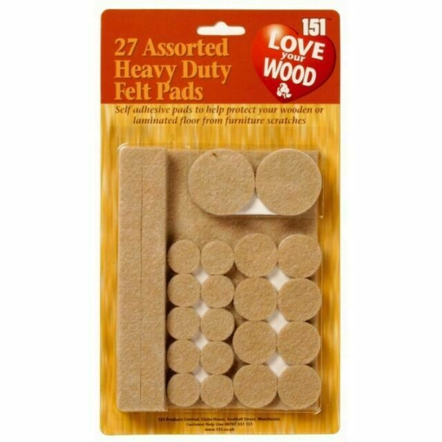 27 Assorted Heavy Duty Felt Pads Floor, How To Protect Laminate Flooring From Furniture