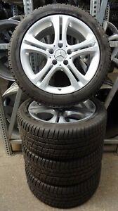 4-Mercedes-Benz-Winterraeder-225-45-R17-M-S-B-Klasse-W246-W176-CLA-DOT16-17-RDKS