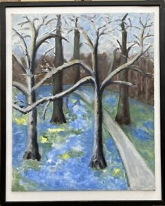 Else-Bruhn-1910-2006-trees-in-039-s-47-5-x-38-5-cm-Denmark-Modern-Art