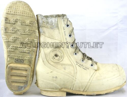 30° Snowmobile w// Valve Used BATA Army White MICKEY MOUSE BUNNY BOOTS Blem/'d