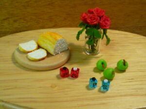 Capable Maison De Poupées Miniature Salt & Pepper Pots Rouge Tiny Condiments 1:12th échelle-afficher Le Titre D'origine