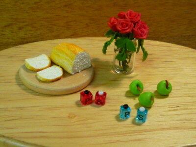 Dolls House Miniatura Salt & Pepper Pentole Rosso Piccolo Condimenti Scala 1:12th-mostra Il Titolo Originale