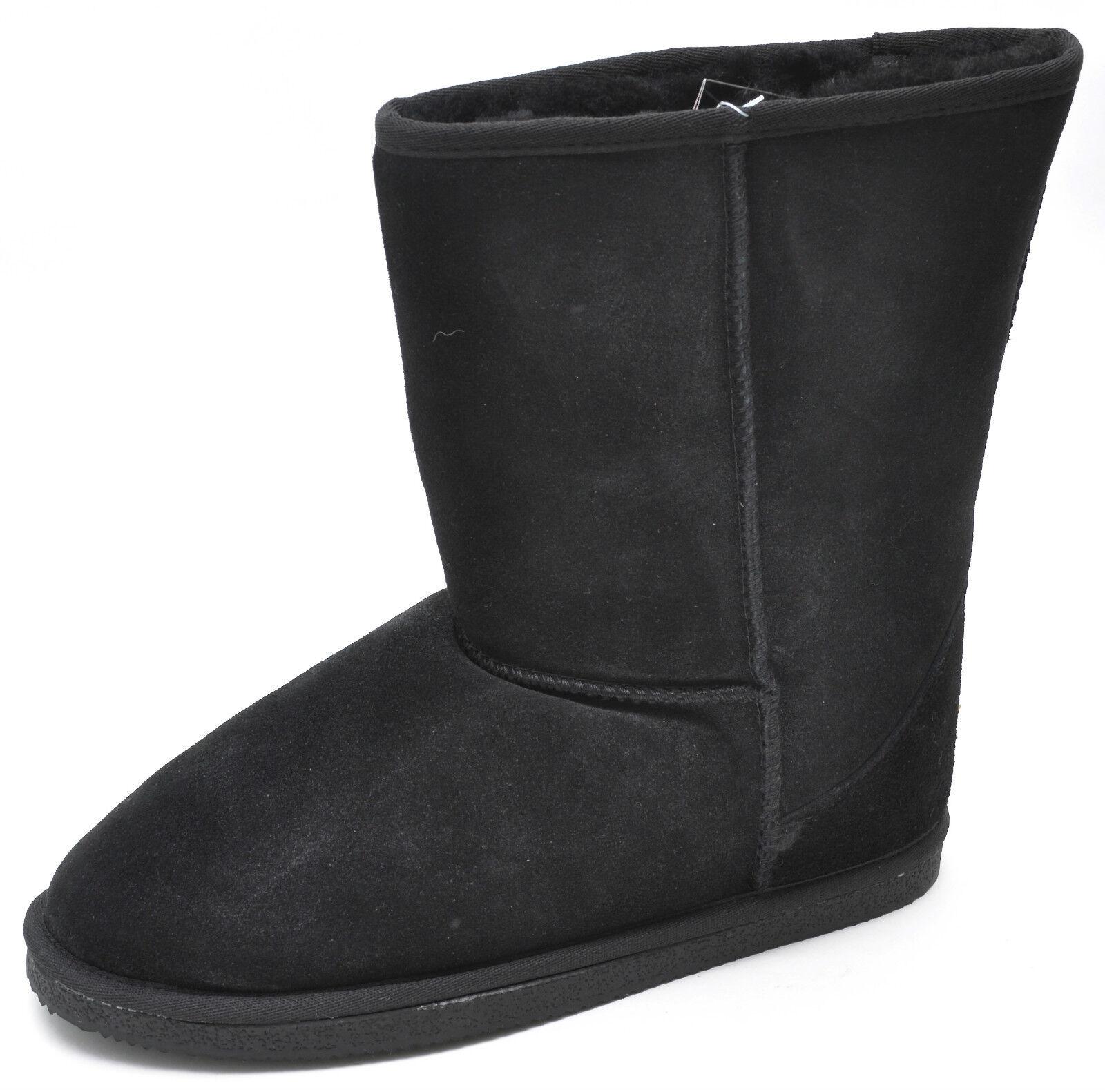 alta qualità e spedizione veloce Staheekum Brand Brand Brand nero Classic Mid-Calf Australian Sheepskin Wool stivali Donna   a buon mercato