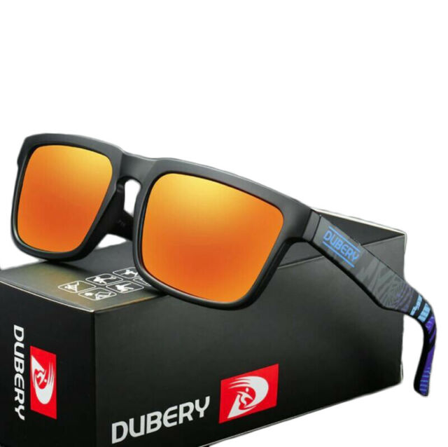 DUBERY Polarized Sunglasses Mens Sports Running Fishing Golfing Driving Glasses