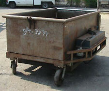 Cart Wheeled Dough Trough 40 Cubic Foot With Hydraulic Lift Amp Gate Used