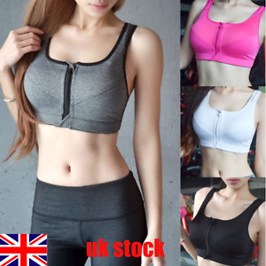 1ecdbae9188a4 UK Womens Yoga Sports Running Bra Crop Top Vest Stretch Bras ...
