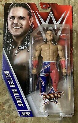MATTEL WWE SUMMER SLAM British Bulldog Figurine 1992 WWF Hall of Fame