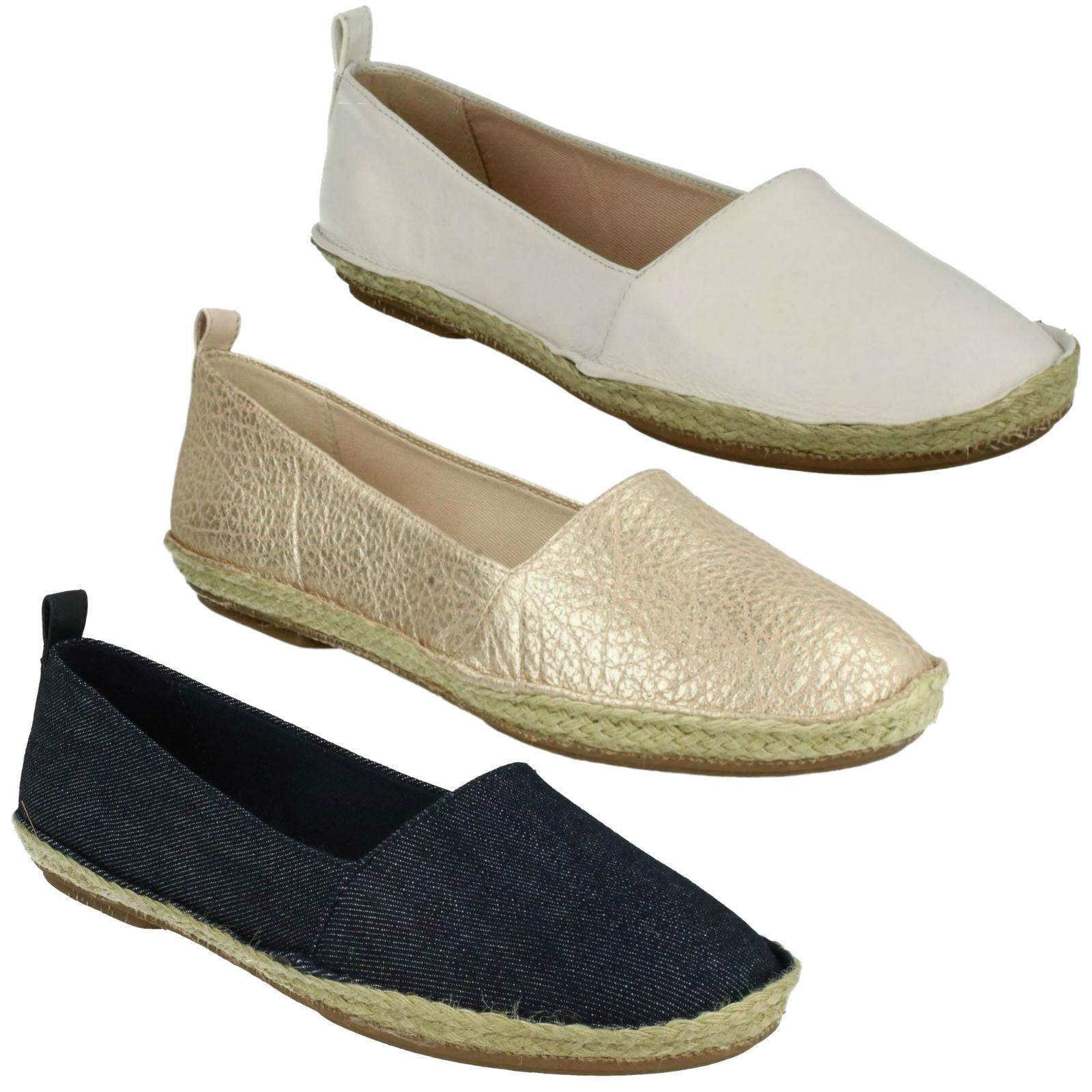 Clovelly SOLE infilare Clarks da donna in pelle da infilare SOLE scarpe estive espadrille e1ebee