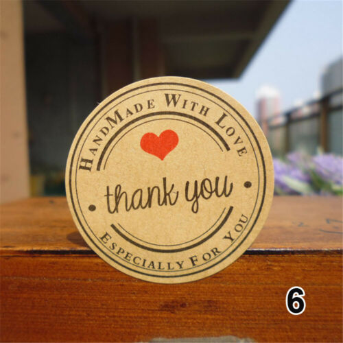 Decor Party Supplies Paper Kraft Stickers Sealing Tag Package Label Thank You