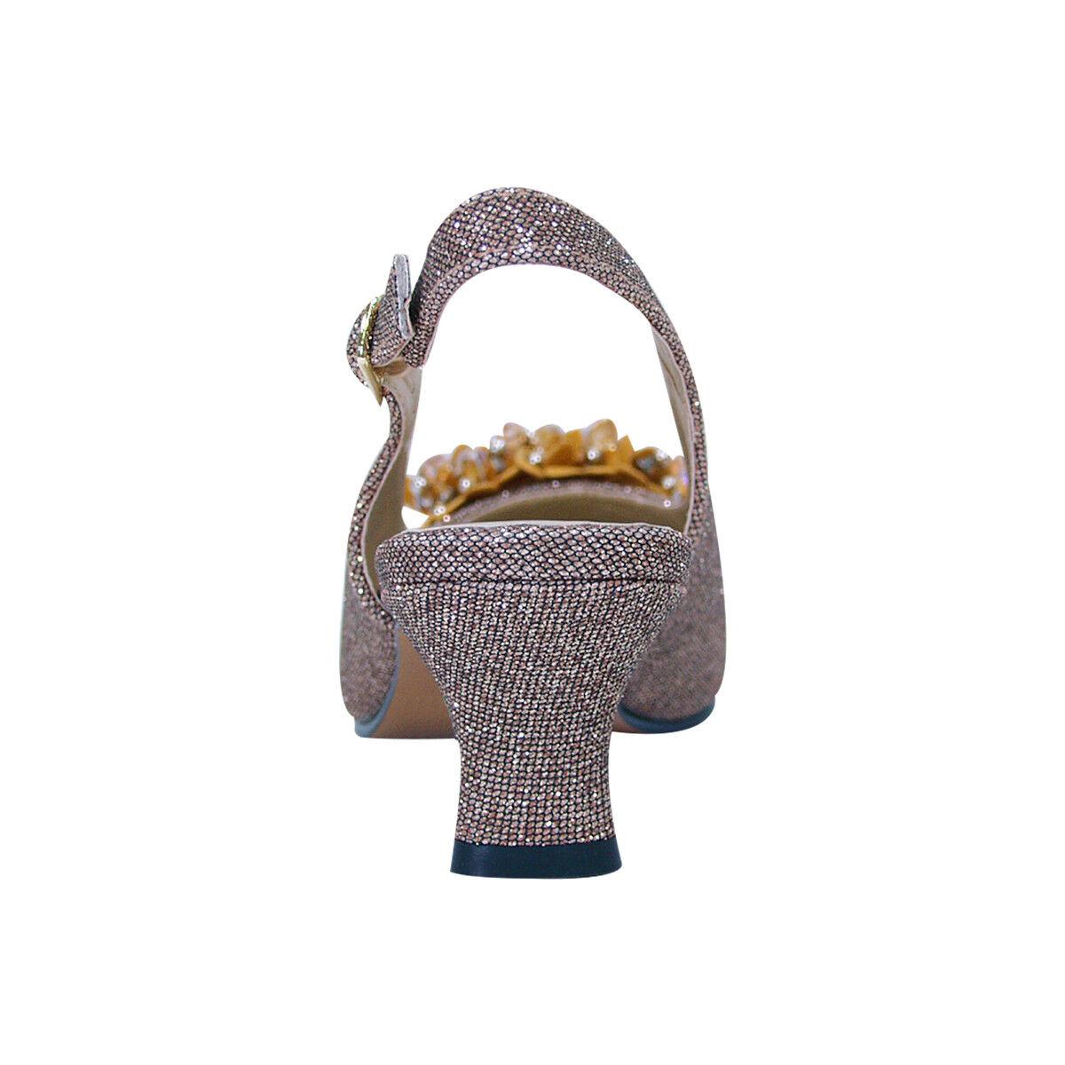FIC FLORAL Natalie damen Wide Width Dress Slingback Slingback Slingback with Flower Bow for Evening 7d031b