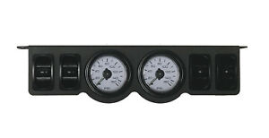 Air Ride Suspension Dual Needle Gauges Panel 150psi 4 Paddle Switch Control xzx