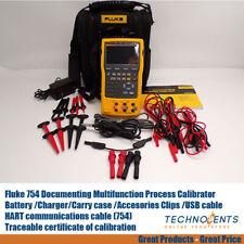 Fluke 754 Documenting Multifunction Process Calibrator Hart Calibrated Certified