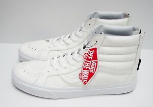e4c84efb01 Vans SK8 Hi Reissue Zip Premium Leather True White VN0004KYII9 Men s ...