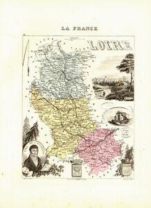 Carte du Département de la LOIRE - vers 1874-Migeon 197LIrfK-09120216-770267927