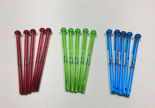 LOT OF 15 Star Wars LEGO Red Green Blue Bar w// Round End Spring Shooter Dart 8L
