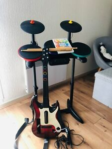 Jeu-Band-Hero-Guitar-Hero-Avec-Batterie-Guitare-Micro-Pour-Nintendo-Wii-Wii-U