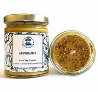 Abundance Soy Candle For Money Love Prosperity Success Spell Wiccan Pagan Hoodoo