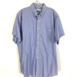 Brooks-Brothers-Men-039-s-Shirt-size-17-34-35-100-Cotton-Non-Iron-Short-Sleeve