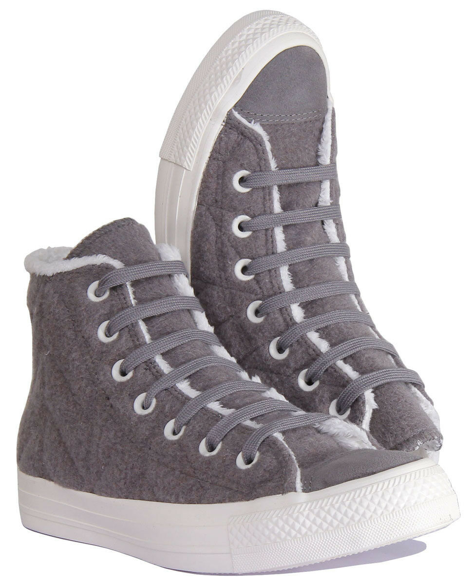 Converse Chuck Taylor Quilted All Star High Charcoal Quilted Taylor Panel Damenschuhe Trainer Größe 3 8b598f