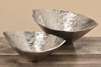 Edle Deko Schale Serie Lil Aluminium in silber-optik Geschenkidee Dekoschale