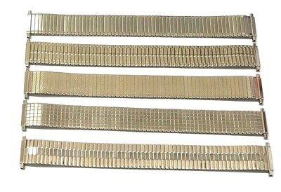 18mm - 20mm Silver Expanding Watch Strap Extra Long Push Back Bars Very Stretchy Ein Unbestimmt Neues Erscheinungsbild GewäHrleisten