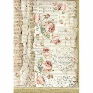 1 x A4 Size Sheet Decoupage Stamperia France Rice Paper