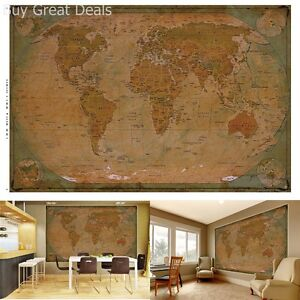 Historical world map poster xxl wall picture decoration globe image is loading historical world map poster xxl wall picture decoration gumiabroncs Choice Image