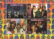 THE BEATLES JOHN LENNON PAUL MCCARTNEY ROCK MUSIC TCHAD 2015 STAMP SHEETLET