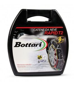 COPPIA CATENE DA NEVE BOTTARI RAPID T2 9mm GR.40 145/65-15 145 65 15 145 65 r15