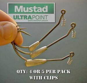 Mustad-Weighted-Hooks-for-swimbaits-and-soft-plastic-bass-fishing-baits-lures