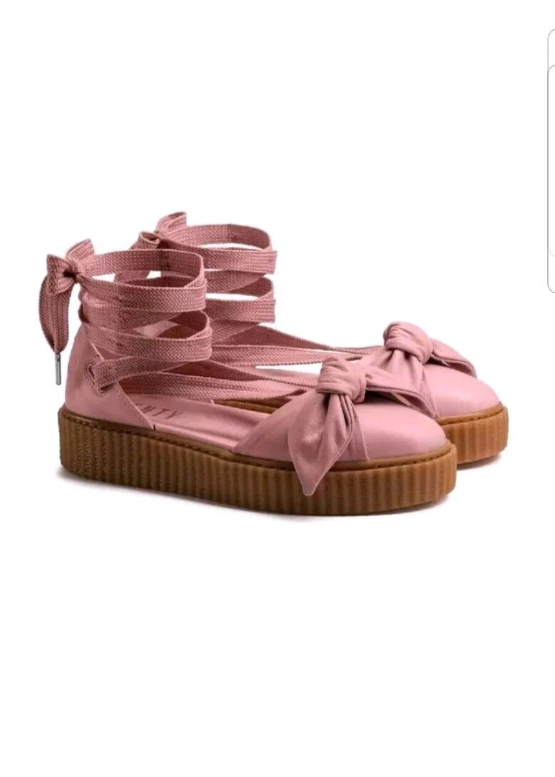 Puma fenty by rihanna bow screepers sandals size 8.5 leather pink