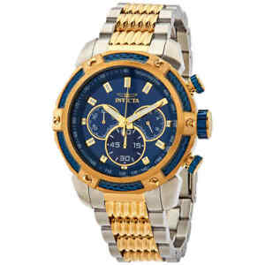 Invicta-Speedway-Chronograph-Blue-Dial-Two-tone-Men-039-s-Watch-26478