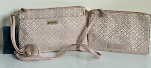 NEW-TOMMY-HILFIGER-BLUSH-PINK-CROSSBODY-SLING-BAG-W-WALLET-POUCH-75-SALE