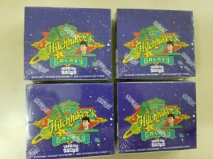4-Box-LOT-1994-The-Hitchhikers-Guide-to-the-Galaxy-Trading-Cardz-Factory-Sealed