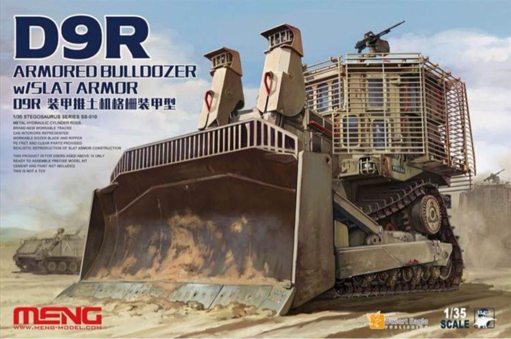 ◆MENG 1 35 SS-010 D9R ARMORED BULLDOZER w SLAT ARMOR model kit