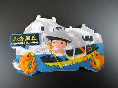 Sinnvoll Shanghai China Fridge Magnet Souvenir Asien,rubber,zhouzhuangl,neu Up-To-Date-Styling