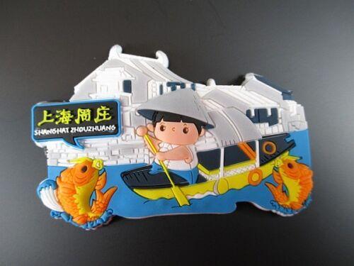 rubber NEUF zhouzhuangl Shanghai Chine Frigo Aimant souvenir Asie
