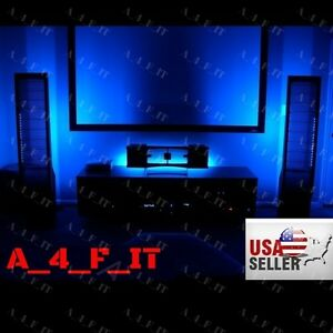 Image Is Loading Led Accent Lighting Kit Home Theater Tv Backlight