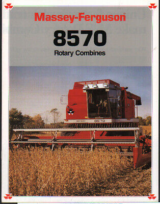 "Massey Ferguson ""8570"" Rotary Combine Brochure Leaflet Agriculture/farming"