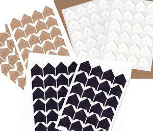 48-Fotoecken-Kraftpapier-schwarz-weiss-braun-goldfarben-silberfarben-Sticker