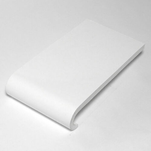 2 X 2.5 WHITE PLASTIC PVC COVER ROUND EDGE WINDOW BOARD CILL VARIOUS WIDTHS 5m