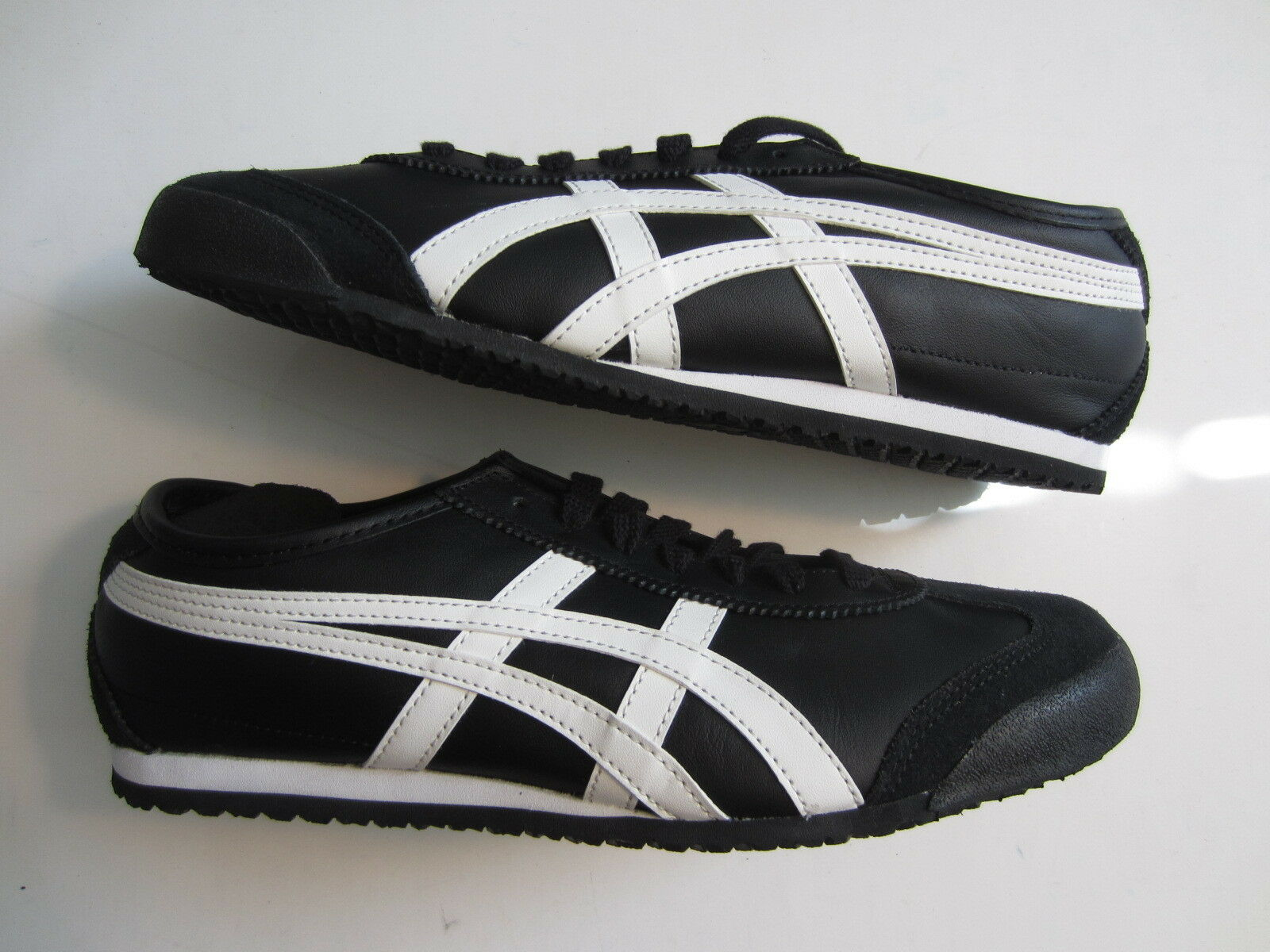 NEW Ascis Onitsuka Tiger Mexico 66 mens shoe DL408 9001 black white ultimate 81 Cheap women's shoes women's shoes