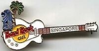 Hard Rock Cafe SINGAPORE 1990s White Les Paul Guitar PIN Merlion Tree HRC #8704