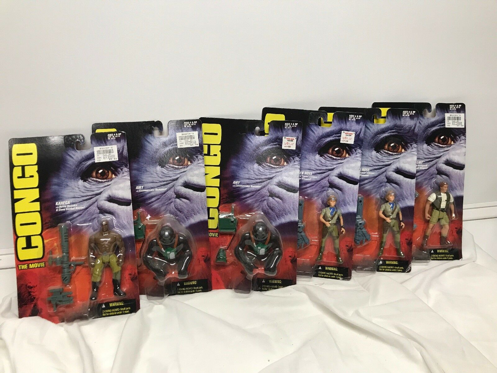 Vintage 1995 Kenner Congo The Movie Action Figures MOC Lot Of 6 Amy