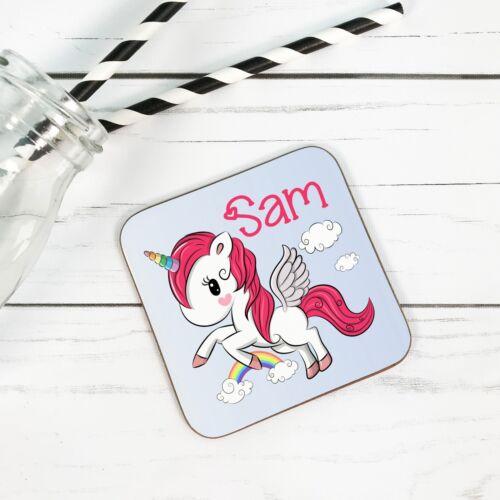Bebé Personalizado Unicornio Chicas-Madera Posavasos Bebidas-regalos para todos