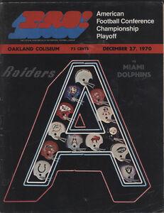 1970 Oakland Raiders Vs Miami Dolphins Playoff Football