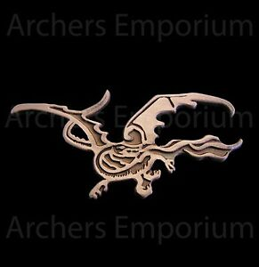 Smaug-Pin-Badge-Antique-Copper-Finish-Dragon-Hobbit-LotR-Weta-Collectables