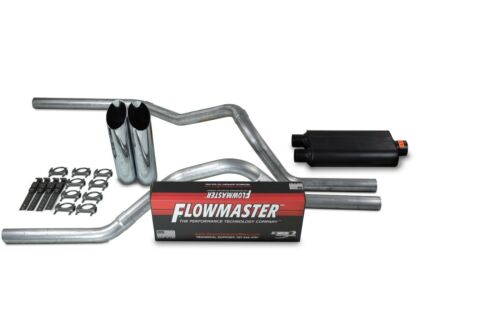 "Chevy GMC 1500 Truck 99-06 2.5/"" Dual Exhaust Kits Flowmaster 50 Series Slash Tip"